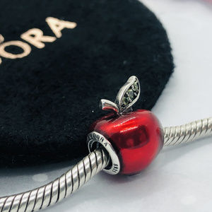 PANDORA Disney Snow White's Red Apple Charm, New!